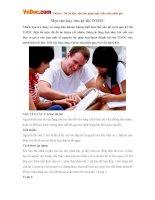 Mẹo thi Toeic cực hay với nhiều mẹo vặt giúp các bạn dể dàng vượt qua kỳ thi TOEIC