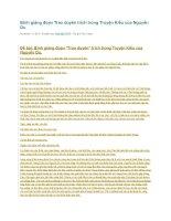 Bình giảng đoạn trao duyên trích trong truyện kiều của nguyễn du