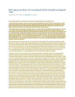 Bình giảng một đoạn văn trong người lái đò sông đà của nguyễn tuân