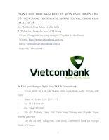 Báo cáo thực tập tổng hợp Ngân hàng TMCP Ngoại thương Việt Nam, chi nhánh Gia Lai