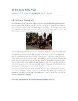 Lễ hội làng triều khúc