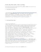Code chèn File audio, video vào blog