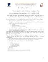 bài tập về internet và giao thức mạng