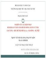 NGHIÊN CỨU CÁC BIỆN PHÁP ĐẢM BẢO AN TOÀN CHO BỜ HỐ MÓNG CHUNG CƯ NHÀ CAO TẦNG  KHU ĐÔ THỊ MỚI XA LA  HÀ ĐÔNG  HÀ NỘI