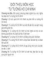 Bài giảng Tư tưởng Hồ Chí Minh: Chương mở đầu  GV. Hải Ngọc (ĐH Kinh tế TP.HCM)