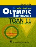 Tuyển tập đề thi olympic 30 tháng 4 toán 11 từ năm 2000 đến 2012 (bấm nút toàn màn hình để xem đầy đủ)