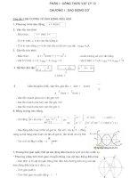 Vật lý lớp 12 tóm tắt, công thức và các dạng bài tập