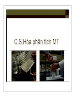 Bài giảng cơ sở hóa phân tích môi trường   chương 1  đại cương về hóa phân tích