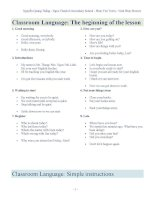 CLASSROOM LANGUAGE HAY