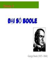 Bài giảng toán rời rạc   chương 5  đại số boole