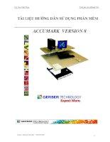 Tài liệu hướng dẫn sử dụng phần mềm ACCUMARK VESION8