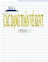 Bài giảng toán cao cấp bài 4   các dạng toán về KGVT