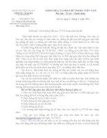 Công văn hướng dẫn thống kê phổ cập giáo dục tháng 5 năm 2011