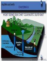 HOẠT ĐỘNG địa CHẤT của nước dưới đất