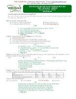 BÀI GIẢI CHI TIẾT ĐỀ TUYỂN SINH ĐẠI HỌC 2014 Môn Hóa học
