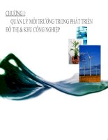 Bài giảng quản lý môi trường chương 1
