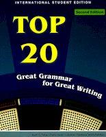 Top 20 great+grammar for great writing(www livrebank com)