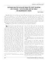 Chủ nghĩa dân tộc và phụ nữ trong tiểu thuyết mujeong của yi kwang su và the home and the world của rabindranath tagore