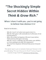 Secret Hidden Within Think And Grow rich