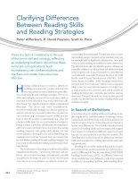 Clarifying Differences Between Reading Skills and Reading Strategies
