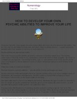 how to develop your psychic abilities to improve your life Tony robbins (ebook self help)