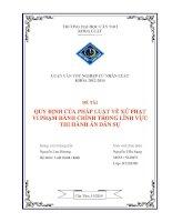 quy định của pháp luật về xử phạt vi phạm hành chính trong lĩnh vực thi hành án dân sự