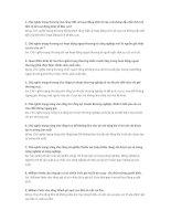 30 câu hỏi chọn đúng sai lịch sử các học thuyết kinh tế có đáp án