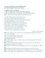 Soạn bài : Cách làm bài văn nghị luận về một đoạn thơ, bài thơ