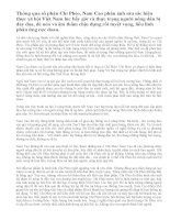 Giá trị hiện thực và nhân đạo trong truyện ngắn Chí Phèo của Nam Cao