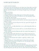 Hướng dẫn soạn bài : Luyện tập về tách câu