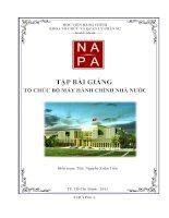 Trọn bộ tài liệu ôn thi môn tổ chức bộ máy hành chính nhà nước (90 trang)
