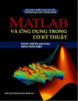 Matlab và ứng dụng trong cơ kỹ thuật