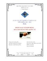 pháp luật về hợp đồng mua bán hàng hóa quốc tế