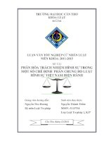 phân hóa trách nhiệm hình sự trong một số chế định phần chung bộ luật hình sự việt nam hiện hành