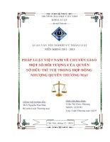 pháp luật việt nam về chuyển giao một số đối tượng của quyền sở hữu trí tuệ trong hợp đồng nhượng quyền thương mại