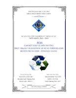 cam kết bảo vệ môi trường thực trạng và giải pháp áp dụng trên địa bàn huyện phụng hiệp  tỉnh hậu giang