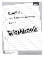 English first addtional language grade 1 workbook