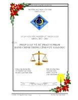 pháp luật về xử phạt vi phạm hành chính trong lĩnh vực giáo dục
