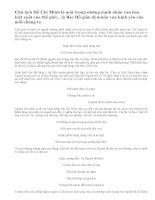 Hình ảnh Bác Hồ qua những bài thơ em đã học và đọc thêm trong chương trình Ngữ văn THCS