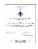 chứng khoán và pháp luật về phát hành chứng khoán trên thị trường chứng khoán việt nam