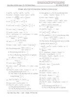 Phương trình lượng giác dùng cho ôtđh