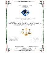đề tài: tội vi phạm qui định về cho vay trong hoạt động của các tổ chức tín dụng trong luật hình sự việt nam