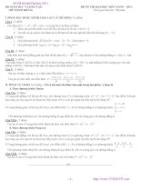 63 đề thi thử toán đại học có đáp án