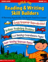 Super fun reading and writing skill builders grade 3 6