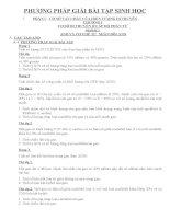 PHƯƠNG PHÁP GIẢI bài tập SINH học 10