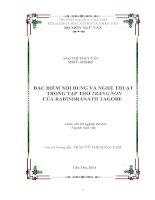 đặc điểm nội dung và nghệ thuật trong tập thơ trăng non của rabindranath tagore