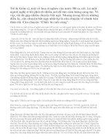 Vào vai Giôn-xi kể lại câu chuyện Chiếc lá cuối cùng của O.Hen-ri