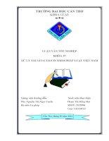 xử lý tài sản cầm cố theo pháp luật việt nam
