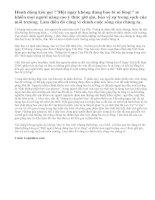Trong văn bản Thông tin về Ngày Trái Đất năm 2000, vấn đề bao bì ni lông đã được tác giả trình bày như thế nào
