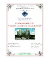 quy định pháp luật về quản lý sử dụng nhà chung cư
